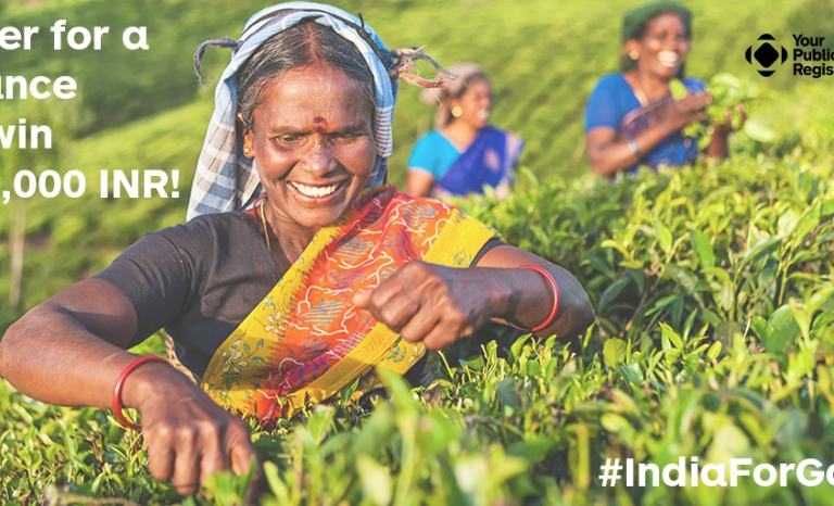 Indian woman in the fields. Image: OnGood