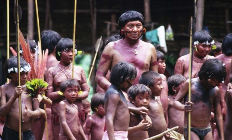 63/5000 Indigenous village of the 'Yanomamis'. Source: Survival International.