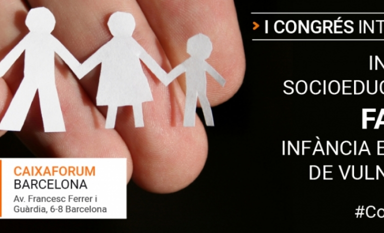 The congress will compile communications on experiences of social-educational intervention with families with children in a situation of vulnerability.  Source: Fundació Pere Tarrés