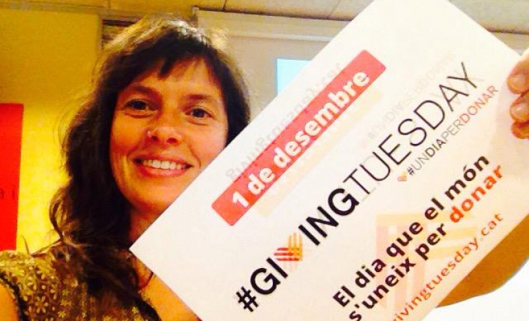 Laia Bernués joining the Giving Tuesday. Photo: Twitter