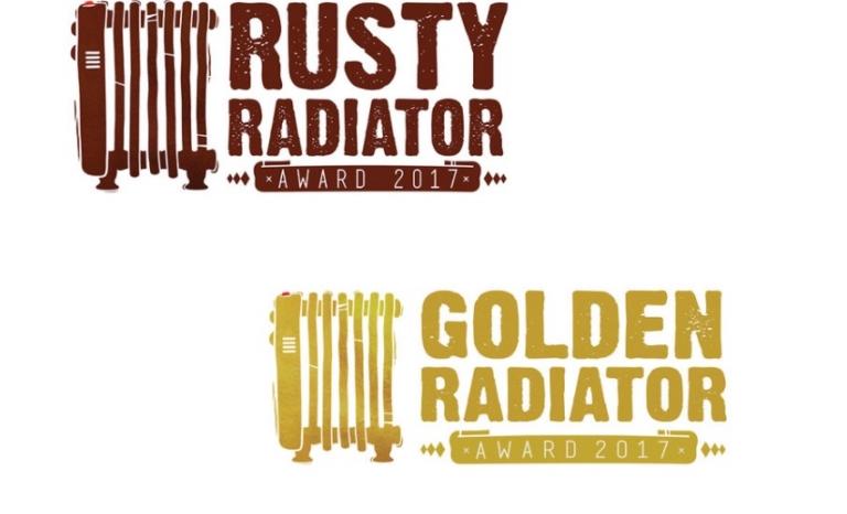 Logos from both awards. Image: Radi-Aid Awards 2017