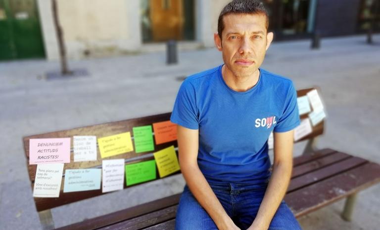 Mayyar Skhaita, asylum seeker and amin character of 'S'ha de fer'