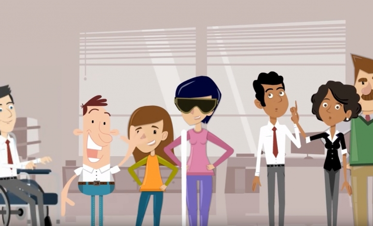 Frame from the Mental Health Europe video. Image: MHE