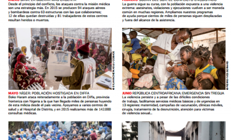A year in images. 2015 Report of Doctors Without Borders / Image: MSF