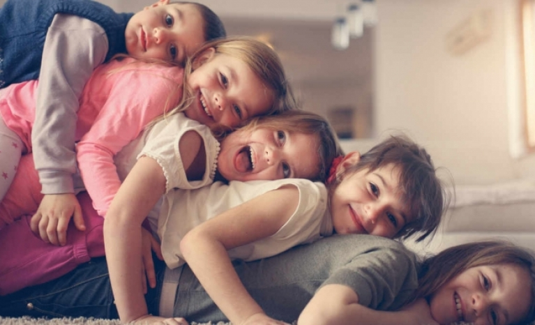 In a large family you are not alone and you have always someone to play with.