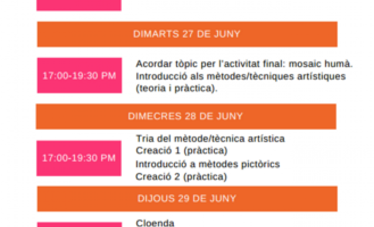 Programme of the MYth Project in Barcelona