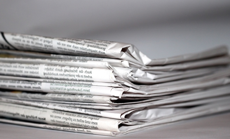 Newspapers. Photo: Wikimedia