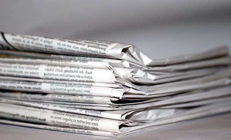 Newspapers. Photo: Wikimedia