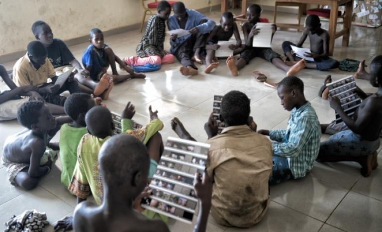 About half of Burkina Faso's 20 million inhabitants are minors.