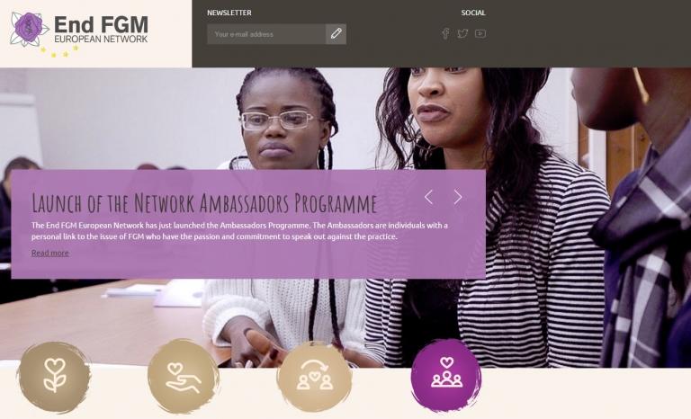 End FGM homepage. Image: End FGM