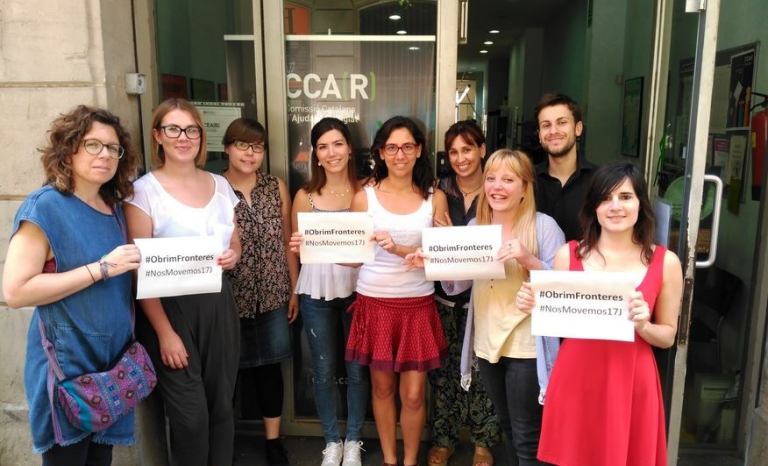 Members of the CCAR requesting the opening of borders on the occasion of the 17J protests - Photo: CCAR
