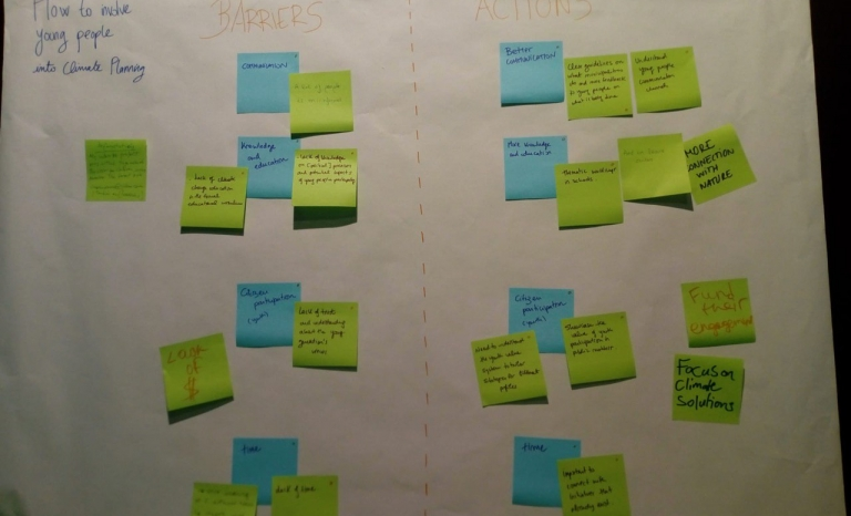 The participants were able to exchange ideas on how the view of young people could be included in climate planning.