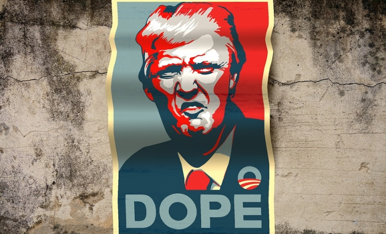 Flyer against Donald Trump. Image: Pixabay