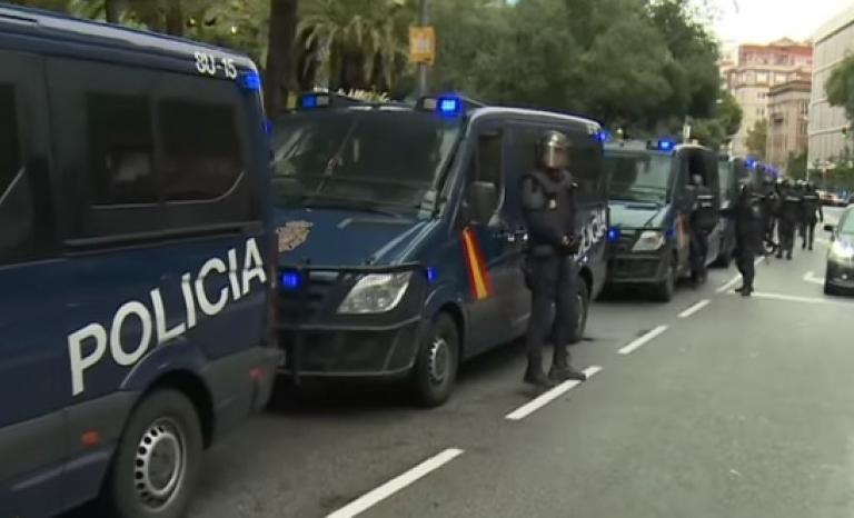 Spanish national police. Photo: Youtube