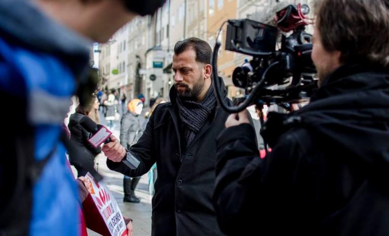 Arman Niamat Ullah, refugee.tv reporter / Photograph: Facebook