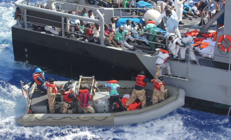 Refugees crossing the Mediterranean Sea aiming to reach European lands. Photo: Wikimedia Commons