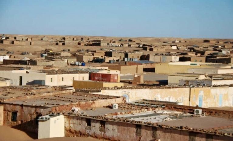 Refugee camp in Western Sahara.
