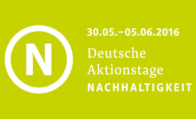 Deutsche Aktionstage Nachhaltigkeit 2016 logo