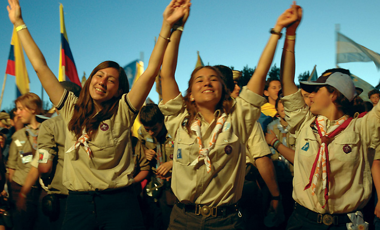 Girl scouts in an international event. Source: Scout.org