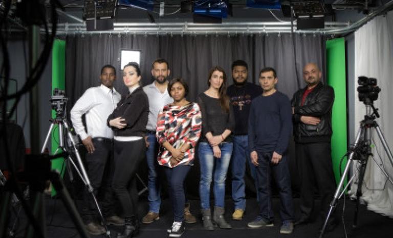 Refugee.tv team / Photograph: refugee.tv