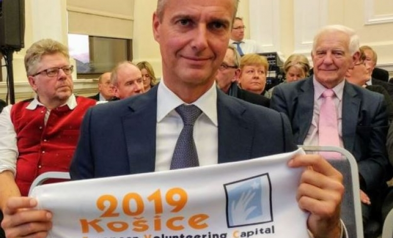 A member of Kosice'19.  Source: Kosice Korzar