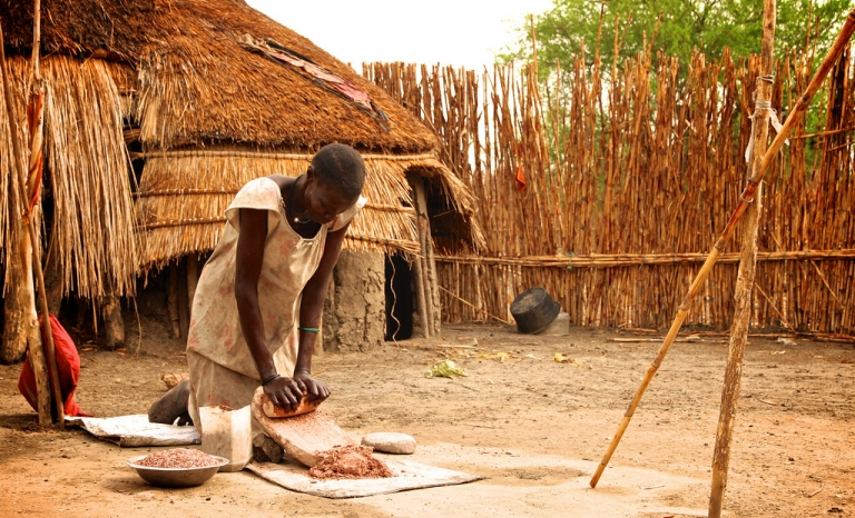 Woman born in South Sudan working in a rural area. Photo: Oxfam East Africa, Flickr