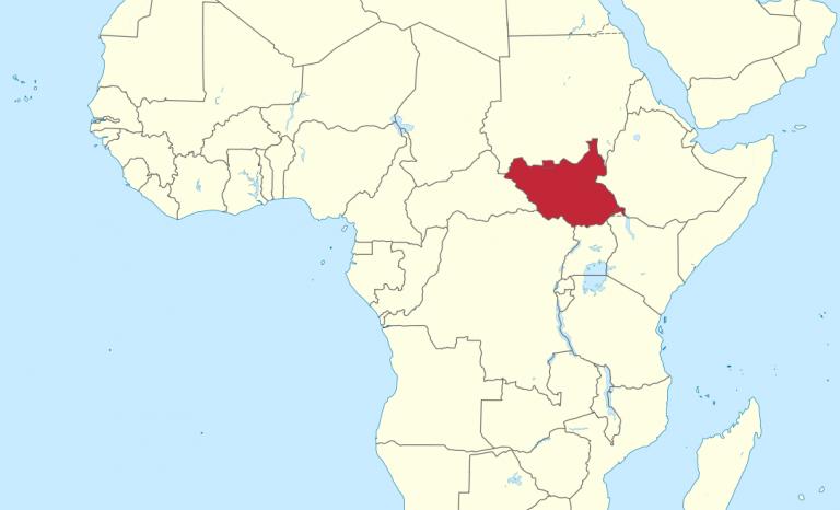South Sudan map. Image: Wikimedia