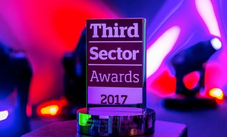 Third Sector Awards prize. Photo: TSA