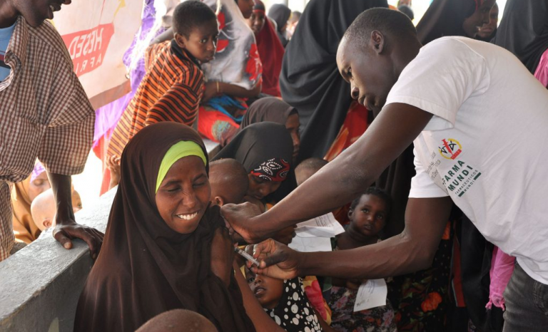 Vaccination in Kenya.
