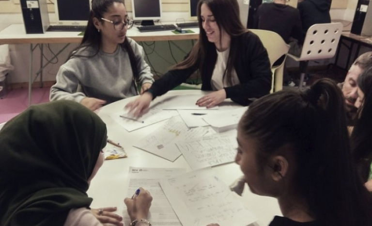 Youth working in the project.   Source: Fundació Germina