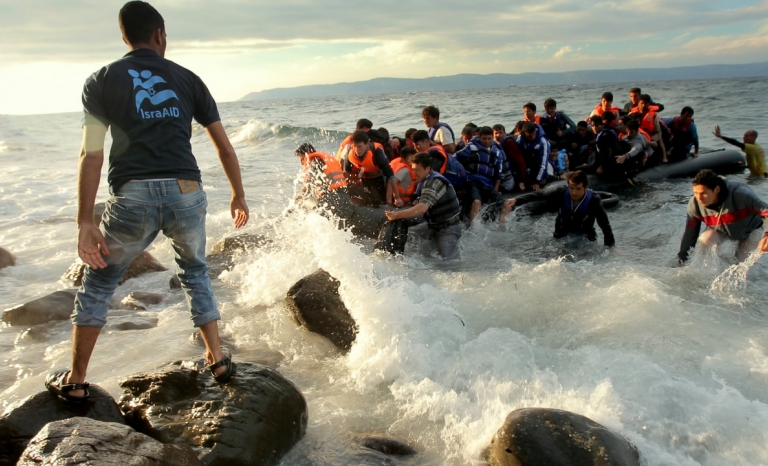 Refugees sinking in the Mediterranean Sea. Photo: Vimeo