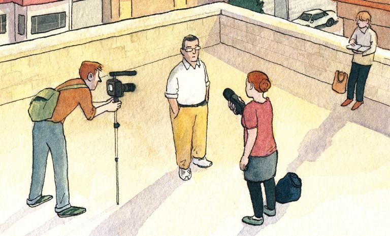 Comic panel. Image: GQ