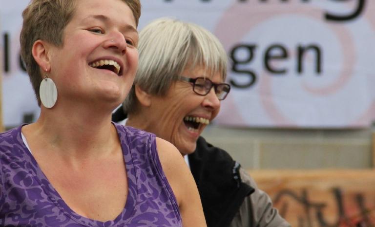 Volunteers dancing at Voluntary Friday / Photo: Henriette Andersen