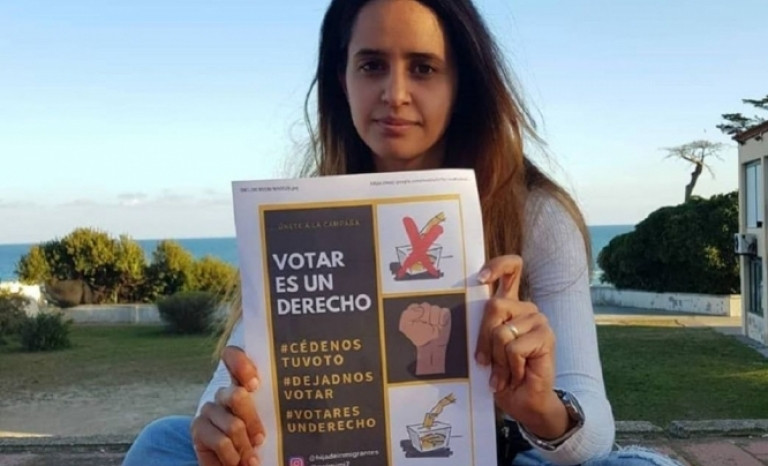 Safia is the promoter of the campaigns #TeCedoMiVoto and #VotarEsUnDerecho
