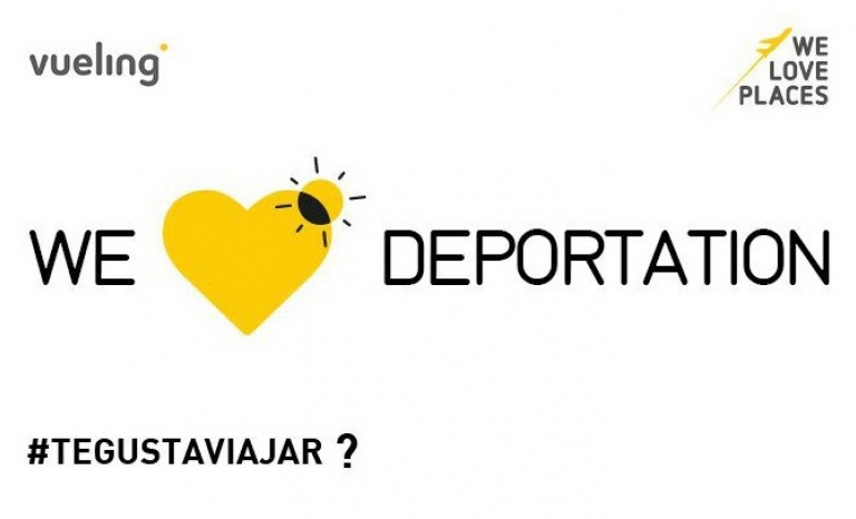 Graphic design to denounce deportations. Image: #YouLoveFlying