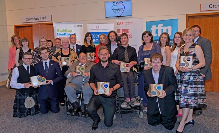 Winners of the Scottish Charity Awards 2017. Photo: SCVO