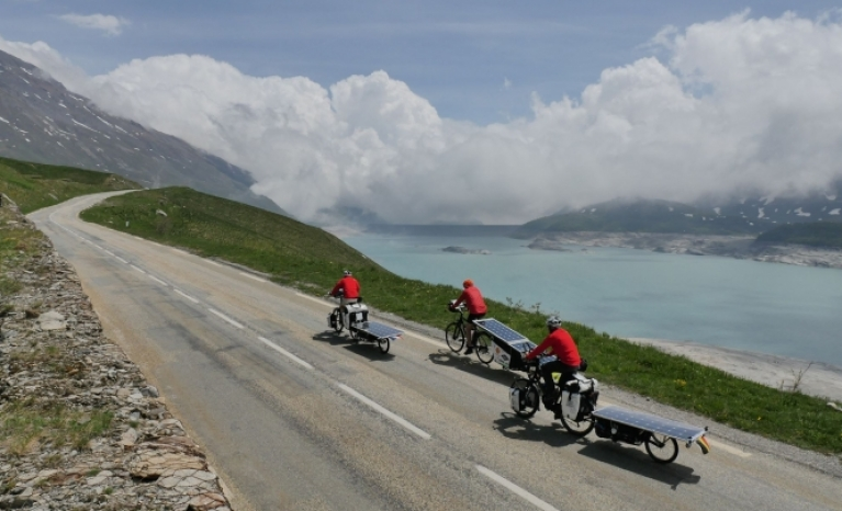 Participants crossed up to 28 countries, cycling more than 10,000 km.